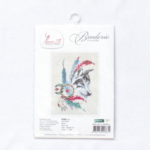 """Counted Cross Stitch Kit Luca-S B2305 /""""The Wolf/"""""""