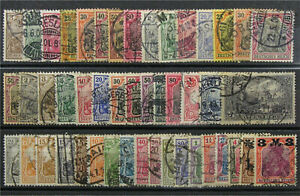 CLASSIC GERMANY, 1900-1921, 47 Different Germania Issues, Nice Used, cv$80.