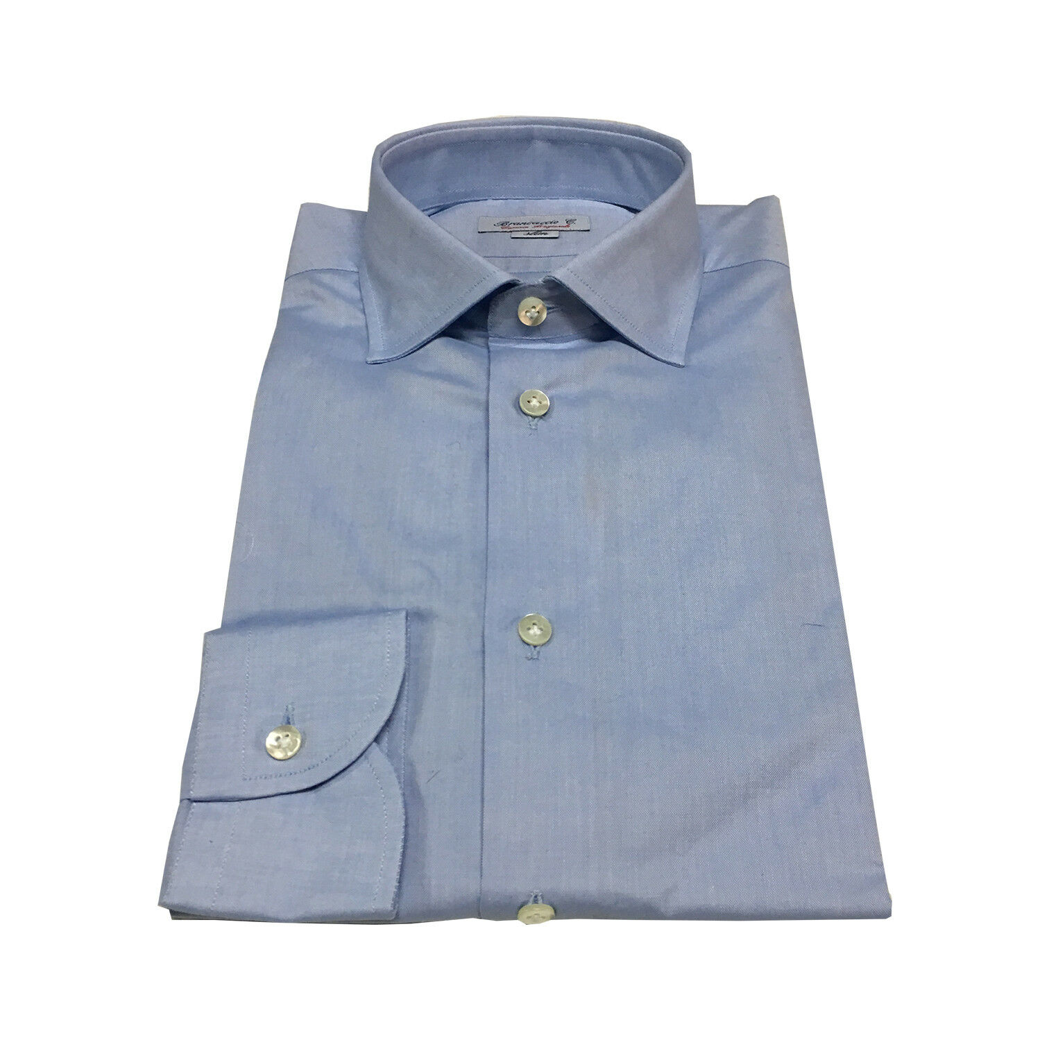 Brancaccio Men's Shirts Baby bluee 100% Cotton