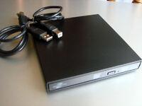 For Hp Dell External Usb Lightscribe Dvd Burner Writer