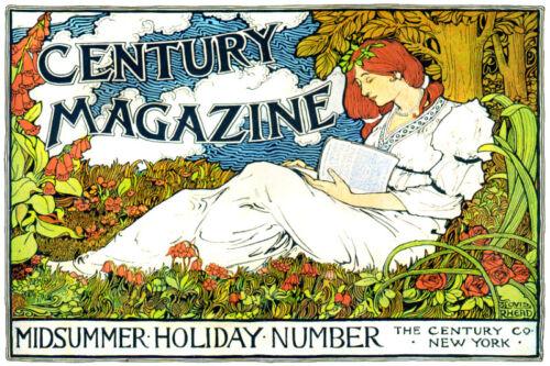 Vintage style quality art print POSTER.Readhead Reading.Art Nouveau Decor.781