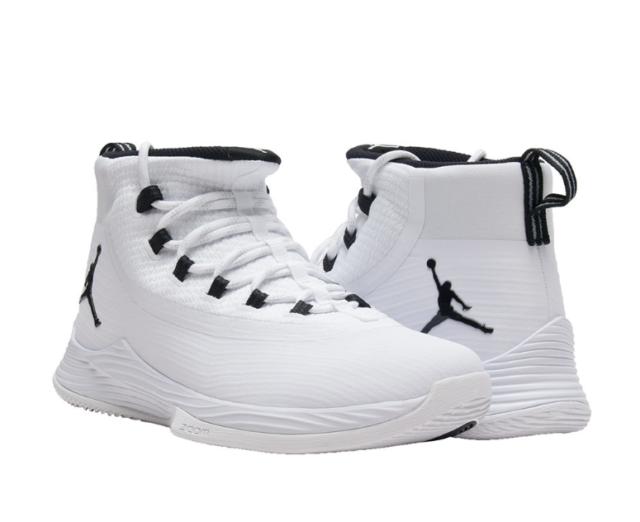 0548cf07ee04 Jordan Ultra Fly 2 White Black Men s High Top SNEAKERS Sz 11 2148 ...