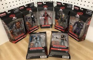 Deadpool Marvel Legends 7 Ensemble de figurines Baf Sasquatch Wave Nouveau câble Domino X-23