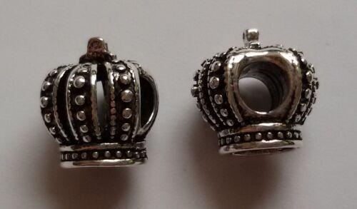 5//10//15 Krone Beads Großloch Perlen Paracord Lanyard Armband Großlochperlen B45