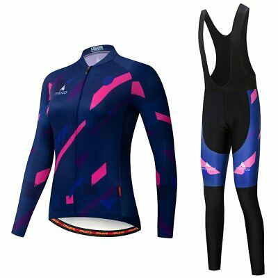 Miloto Women/'s Road Bike Clothing Long Sleeve Cycling Jersey Bib Tight Pants Set