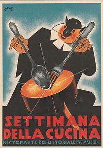 5170) Settimana della Cucina Fiera di Bologna 1935-XIII - originale ...