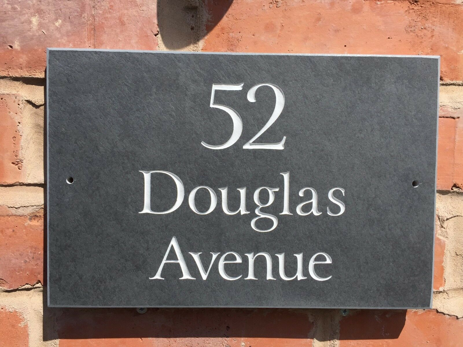 QUALITY NATURAL SURFACE SLATE HOUSE SIGNS 300 X 200MM ANY NAME   NUMBER