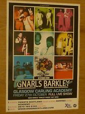 Gnarls Barkley - Glasgow oct.2006 tour concert gig poster