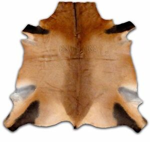 Red Hartebeest Antelope Buckskin Cheap Small Cowhide Rug