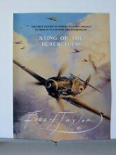 Sting of the Black Tulip Hartmann Me109 Robert Taylor Aviation Art Brochure