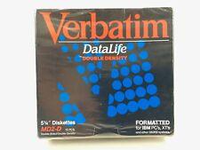 """Verbatim DataLife MD 2D 5.25/"""" Diskettes Floppy Disks 10pc Set Double Sided Densi"""