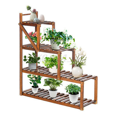 Multi-Tiers Metal Flower Plant Stand Bonsai Rack for Garden Living Room Decor