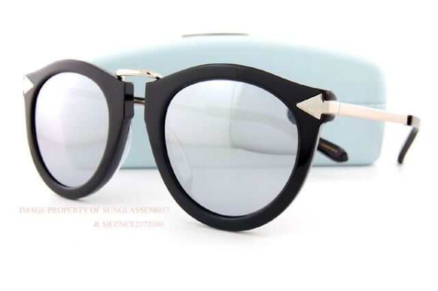 76079de3c18d Brand New KAREN WALKER Sunglasses Superstars Harvest Black Silver Mirror  Women