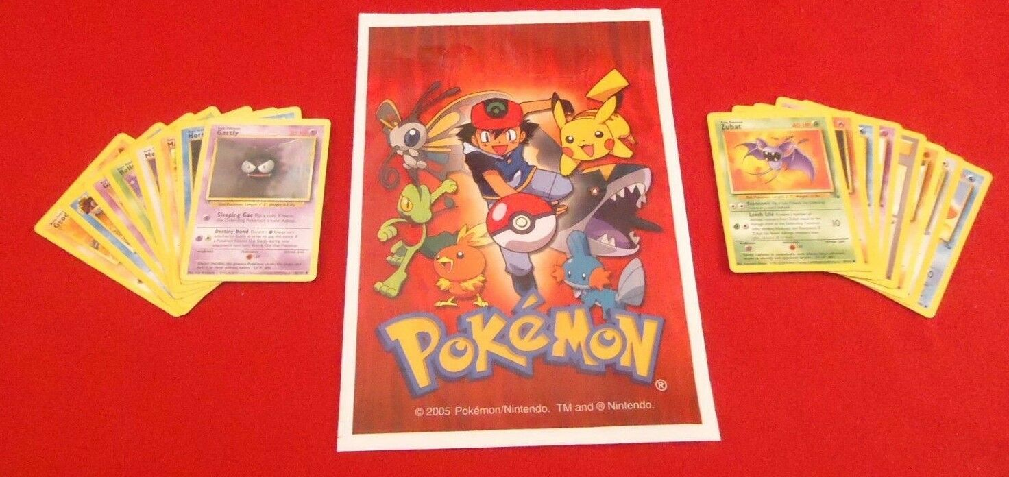 Lot of 432 Vintage Pokemon Cards 12 Party Favor Treat Gift Bags 36 Cards Per Bag