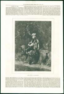 1874-FINE-ART-Antique-Print-Adam-Eve-Comte-Calix-Woman-Man-Horse-Apple-267