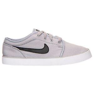 Nike Toki Low Canvas Kids Black Sneakers