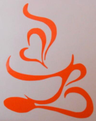 1,2,4,6 ou 12 coeur café thé tasse /& cuillère carrelage mur fenêtre stickers cuisine