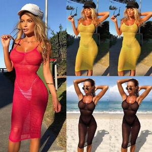 UK-Stock-Womens-Summer-Mesh-Fishnet-Bikini-Cover-Up-Swimwear-Bathing-Beach-Dress