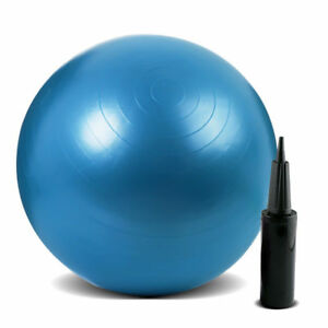 55cm-Blue-Exercise-Fitness-Pregnancy-Anti-Burst-Ball-Gym-Yoga-Ball-With-Pump