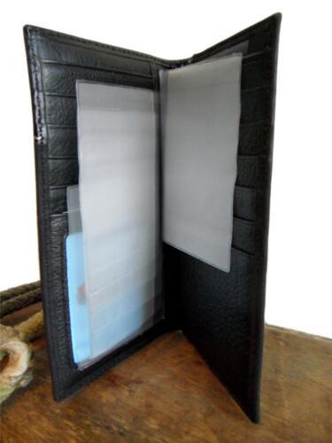 Nocona Western Mens Wallet Leather Rodeo Maltese Cross Black N5456001