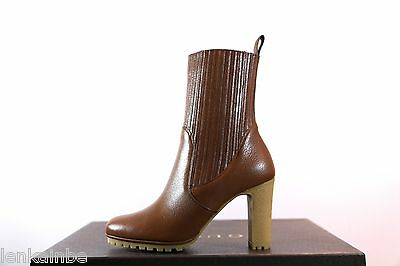 Gucci Edith Cuir Leather Ankle Booties Boots Rubber Sole 36.5 6.5 $1695