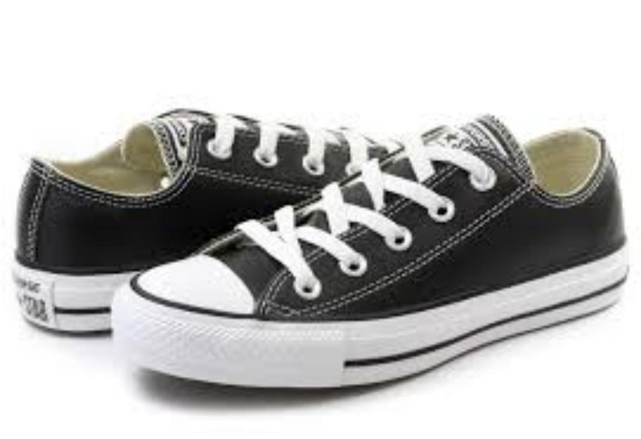 CONVERSE women Chuck Taylor black black black OX Lo shoes NUOVO PELLE 132174c 3.5 - 7 5664f9