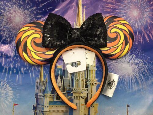 NEW Disney Parks 2020 Minnie Halloween Candy Sequin Bow Headband Ears Lollipop