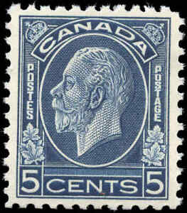 Mint-NH-Canada-1932-VF-Scott-199-5c-King-George-V-Medallion-Stamp
