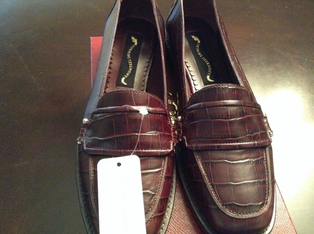 Ladies Opening Ceremony Luxor Embossed Leather Loafters shoes Size 10 10 10 0f7862