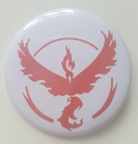 Pokemon Go Team Badge  Team Valour Red 50 mm