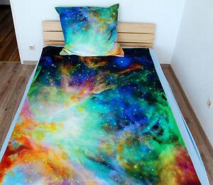 3d einzelbett gr e galaxy bettw sche set nebel stern universum 100 baumwolle. Black Bedroom Furniture Sets. Home Design Ideas