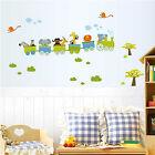 Animal Trains Wall Stickers Nursery Boy kids baby Room Vinyl Art Decal Removable