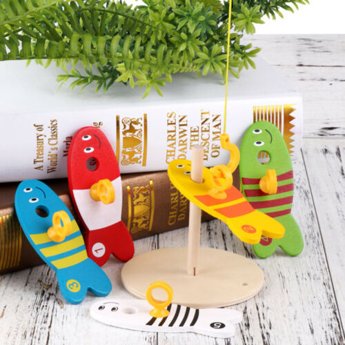 Bbay Toddler Wooden Toy Color Sorter Fishing Board Preschool Learning Toy