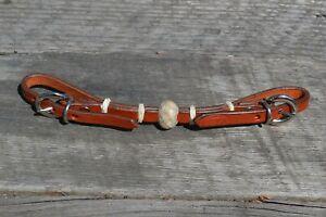 Jose-Ortiz-Medium-Chestnut-Oil-Natural-Rawhide-Knot-Double-Buckle-Curb-Strap