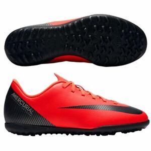 Nike-Mercurial-VaporX-12-Club-TF-Kinder-Fusballschuhe-rot-schwarz-AJ3106-600-CR7