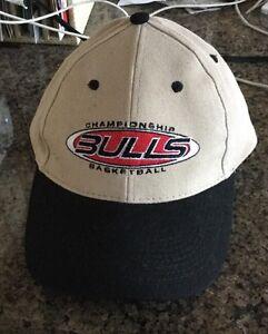 ee6ac158 CHICAGO BULLS HAT/ CAP TAN WITH BLACK BEAK KICK 10 PRO GEAR | eBay
