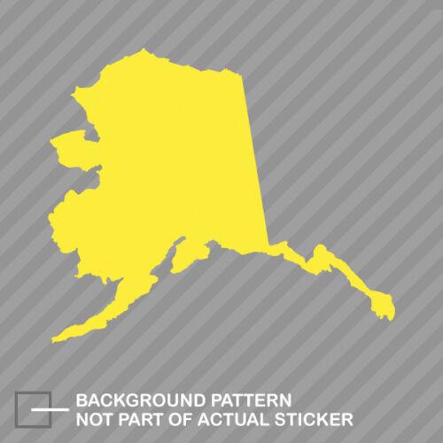 Alaska Shaped Sticker Decal Vinyl AK