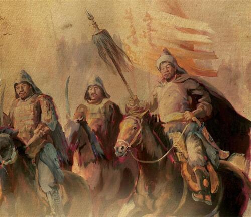 GENGHIS KHAN GLOSSY POSTER PICTURE PHOTO temujin mongol empire mongolia era 1116