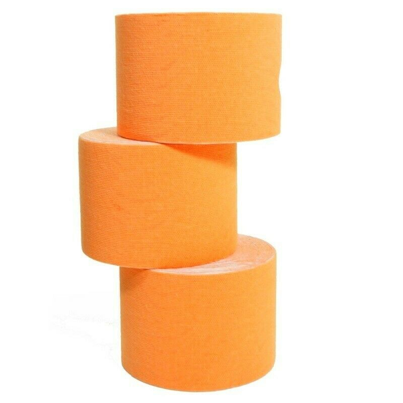 20 rollos  de Kinesiología-tape 5 M X 5,0 cm kinesiology naranja  barato y de moda