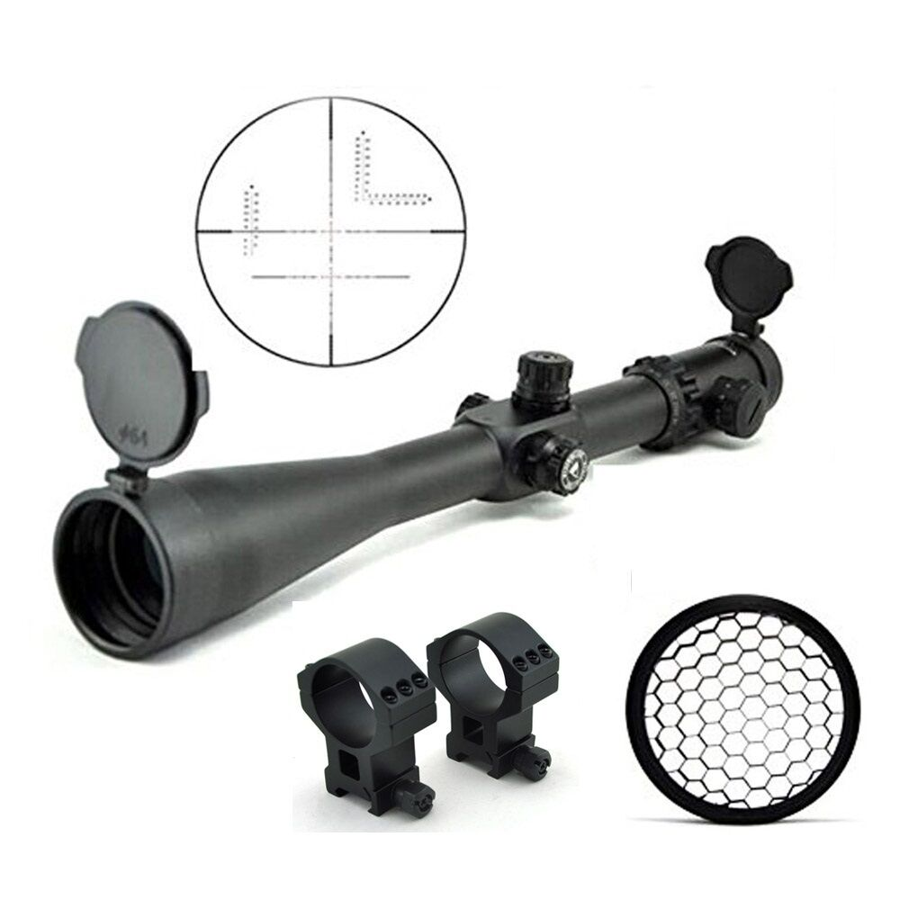 Mira Para Rifle Visionking 10-40x56 objetivo +21mm Picatinny Anillos Sombrilla Killflash
