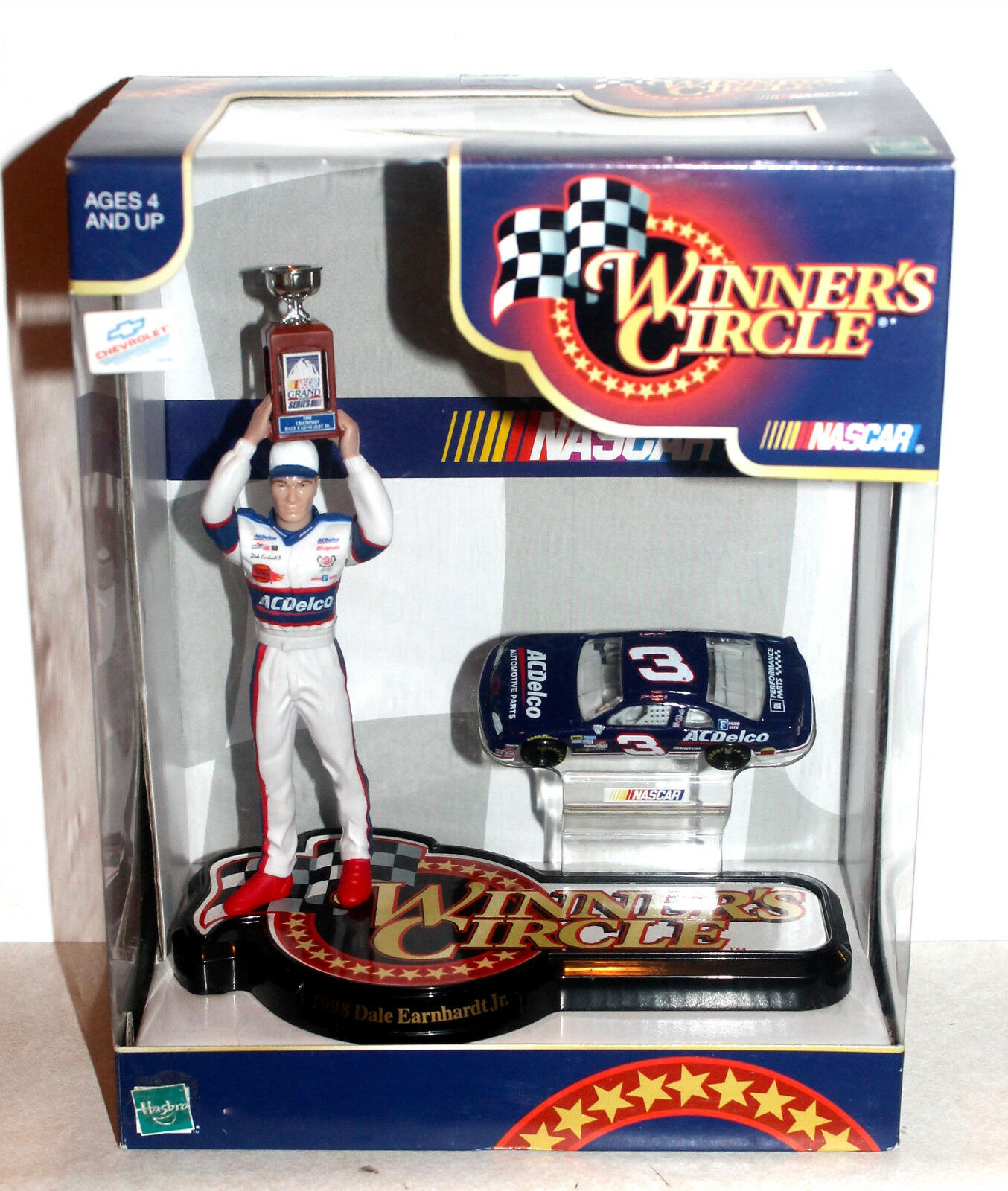 RARE BUSCH CHAMPION Dale Earnhardt Jr. 1998 WinNER's CIRCLE NASCAR Hasbro NIB