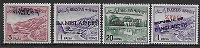 Typ Ca18-11 138 Elegant Und Anmutig Vereinigt Bangladesh Vorläufer; Mit Pakistan Handstempelaufdruck 21367