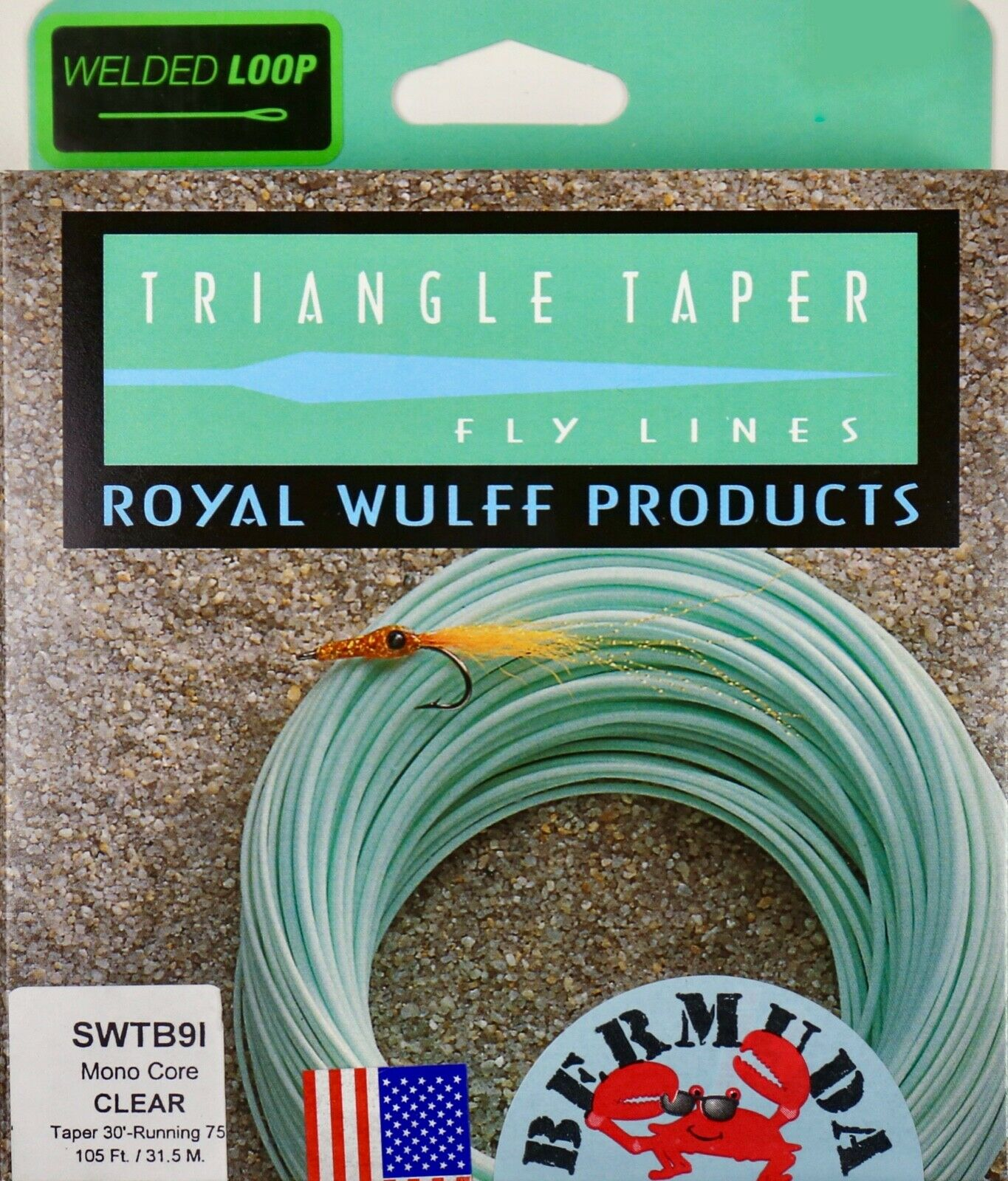 Royal Wulff Bermuda Mono Core Clear Taper 9 WT Fly Line Free Fast Ship SWTB9I