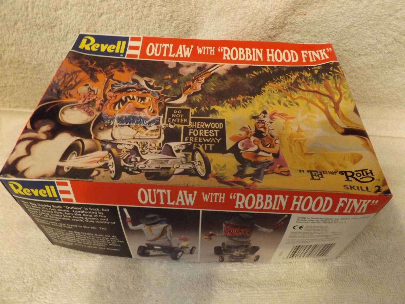 Vintage Model--revell--outlaw mit Robbin Hood FINK--1 24 Scale--partial Kit
