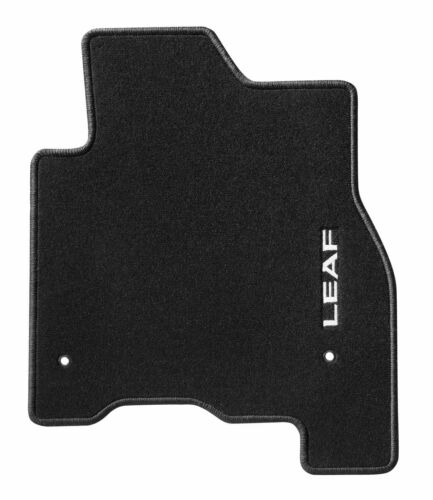 Nissan Genuine Leaf ZE0E Car Floor Mat Velour Textile Carpet Black KE7553NL10
