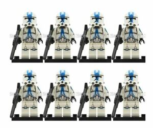 CLONE-ARMY-LEGO-COMPATIBLE-STAR-WARS-MINIFIGURE-CLONE-TROOPERS-DROID-501ST-QTY-8