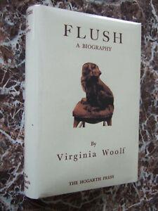 Flush-a-Biography-1933-First-UK-New-Edition-Virginia-Woolf-w-Facsimile-DJ