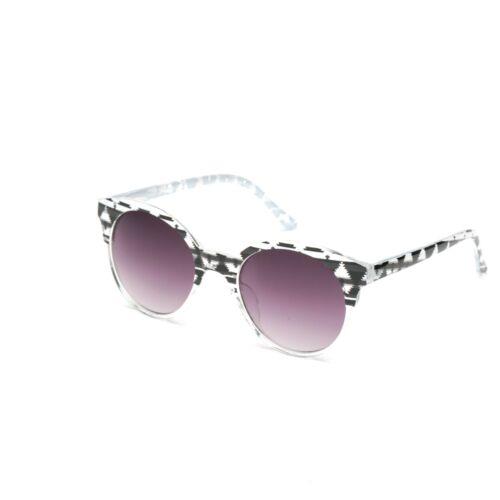 Eyelevel Aztekenmuster Runde Gläser Sonnenbrille Schwarz Weiß Klar Rahmen Fest