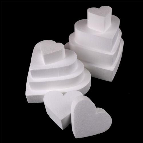Heart Styrofoam Foam Cake Dummy Modelling Sugar craft Flower Decorating 9UK