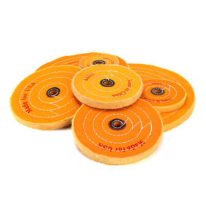 4-034-12-034-Cloth-Buffing-Wheel-Pad-50-Plys-Cotton-Polishing-Tool-for-Metal-5-8-034-Bore